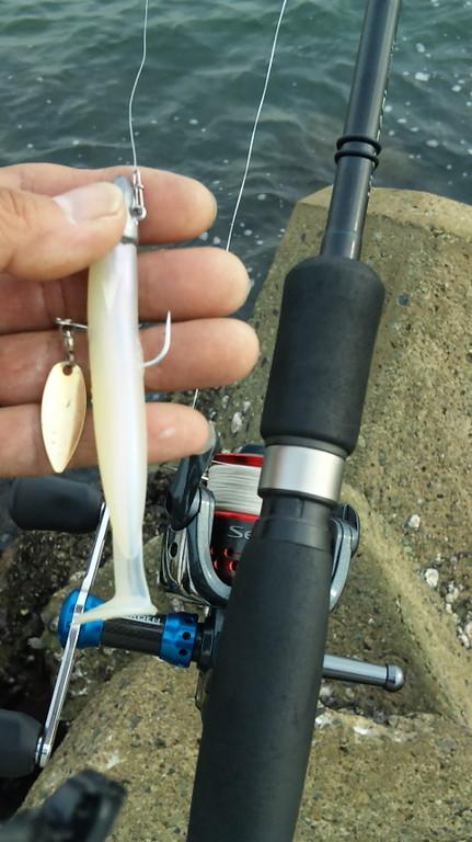 エコギアのワームとジグヘッドにピカピカ集魚仕掛け。