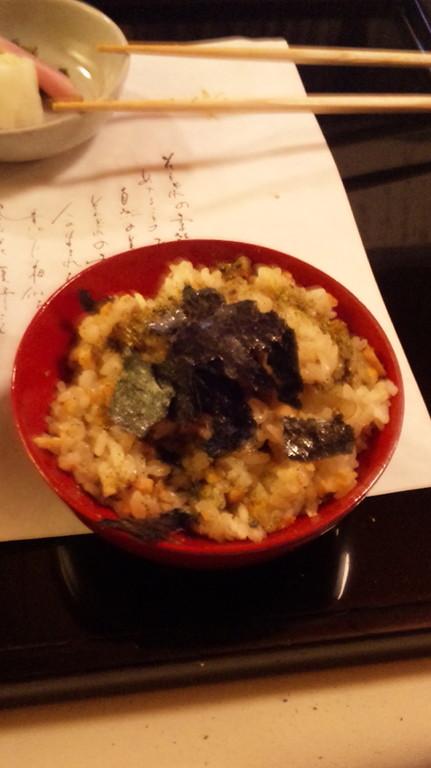 食事 穴子釜炊きご飯