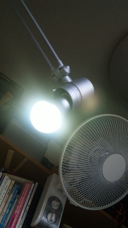 照明もLED化で熱も抑えられます。