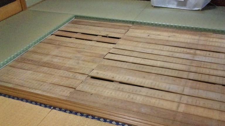 床板はとてもきれいで悪い箇所はありません。
