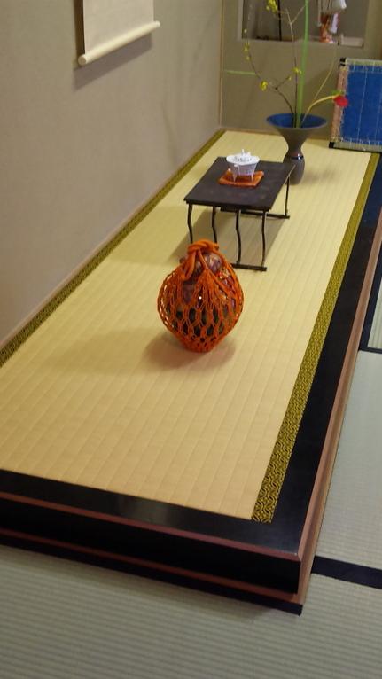 床の間の床上敷き、流備表・紋縁