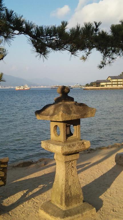 宮島から眺めた廿日市方面