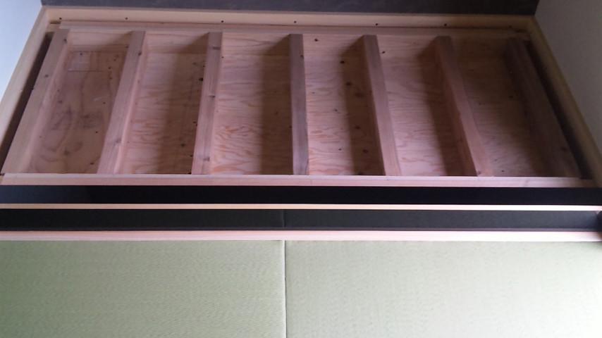 床の間のたたみの下はこのように大工さんが作ってあります。