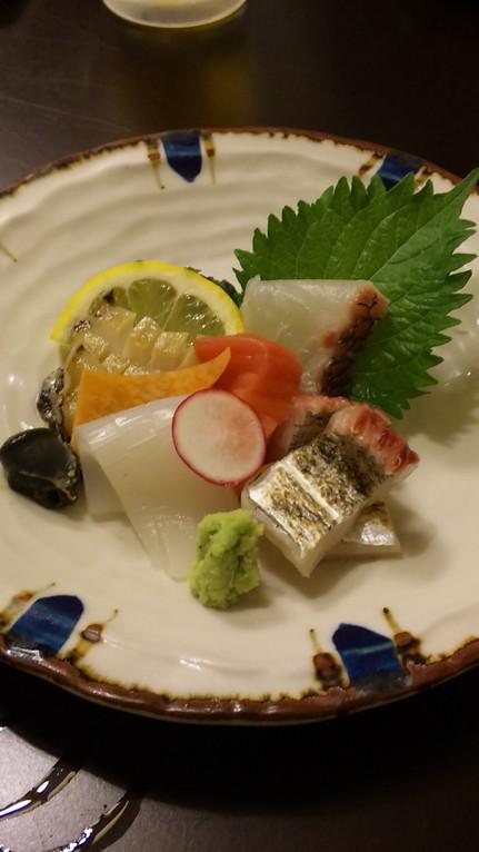 お造り。 真鯛・太刀魚・鮪・あわび・いか