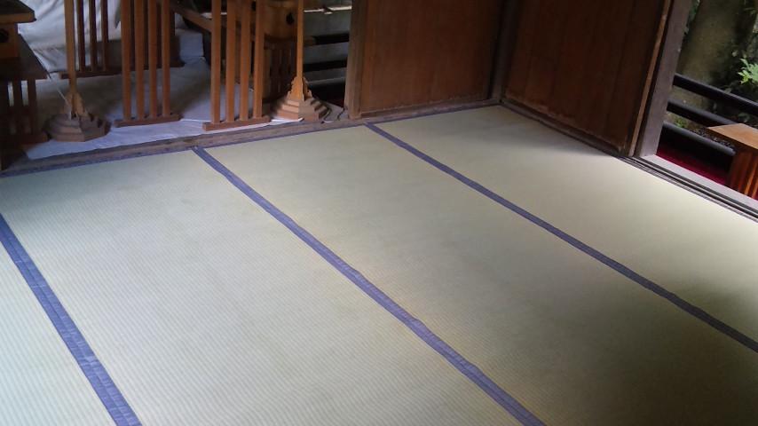 蒲生神社さんの上敷き新調