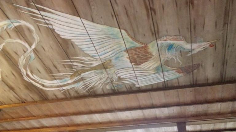 天井にも立派な絵が・・・・歴史を感じます。