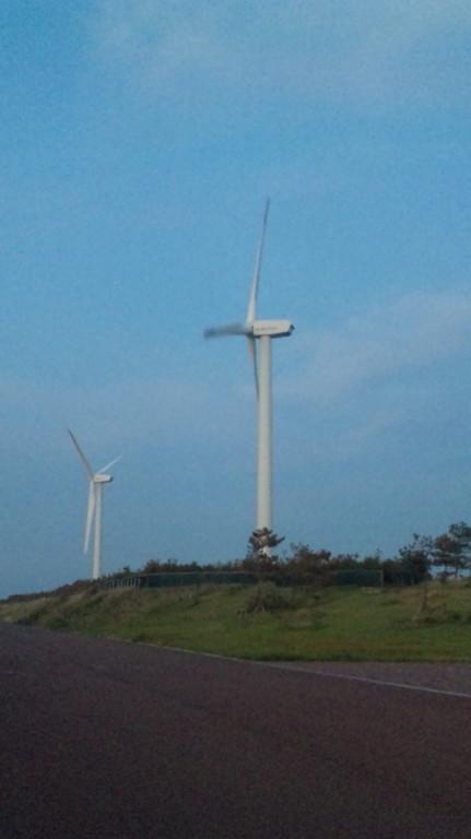 15分ほどで響灘風力発電海浜公園に到着
