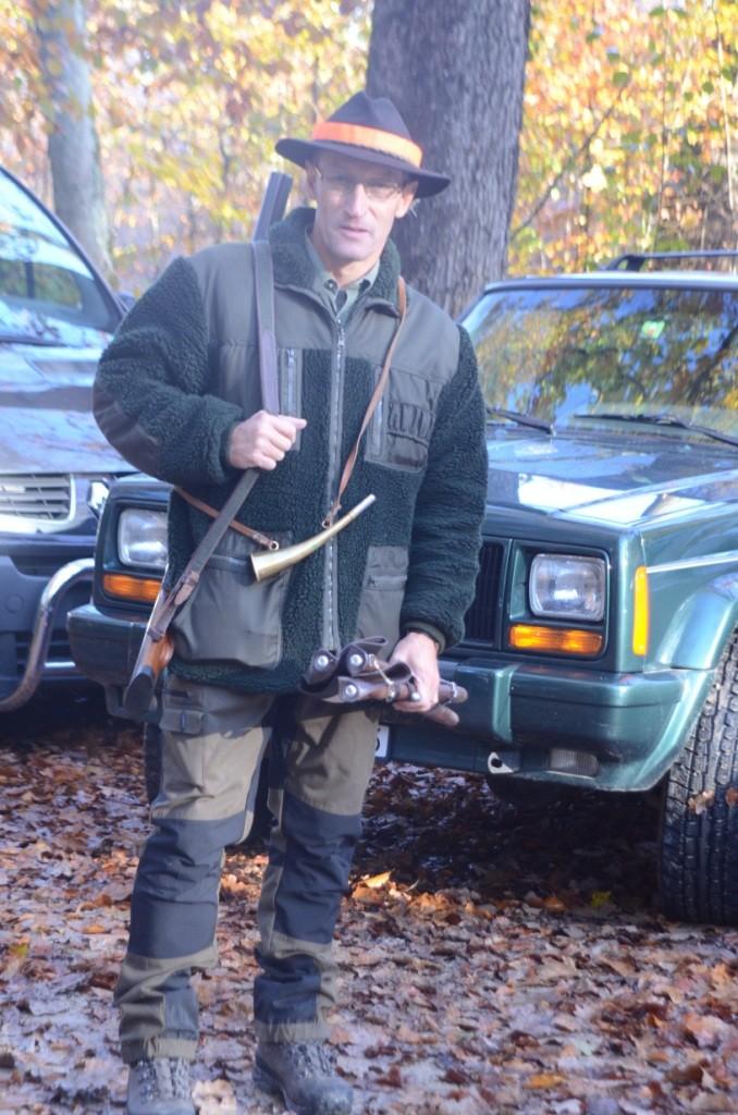Bruno Lüsse, das erste mal mit bestandener Jagdprüfung auf der Herbstjagd. Gratulation nochmals!