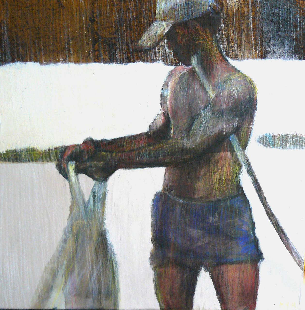Pêcheur à l'épervier