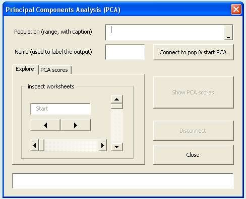 The PCA User Interface