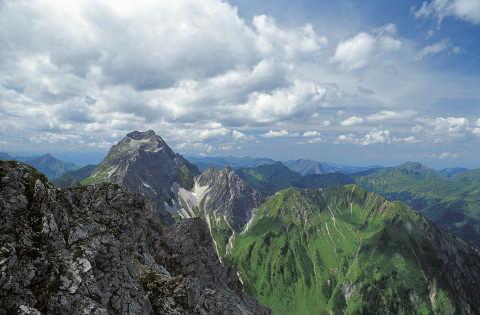 oben in den Bergen