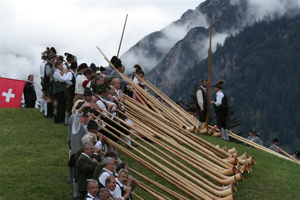 Traditionelles Alphornfestival - alle 2 Jahre im September in Baad
