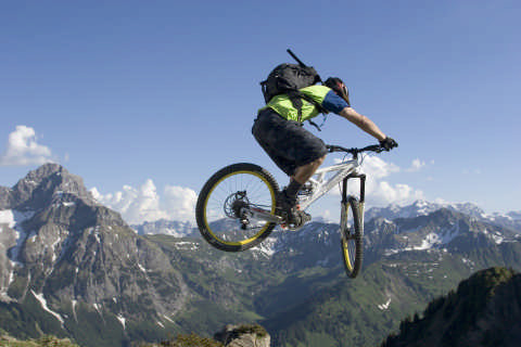 Mountainbiken alpin