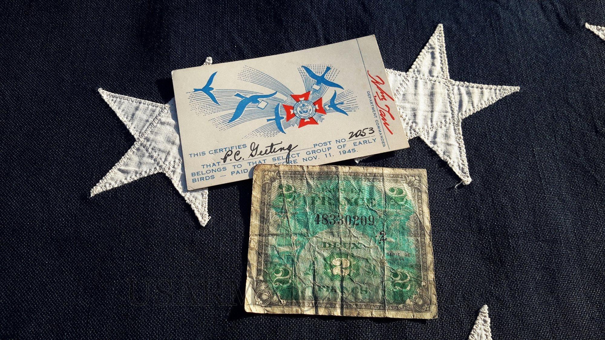Moneta d'invasione francese e certificato