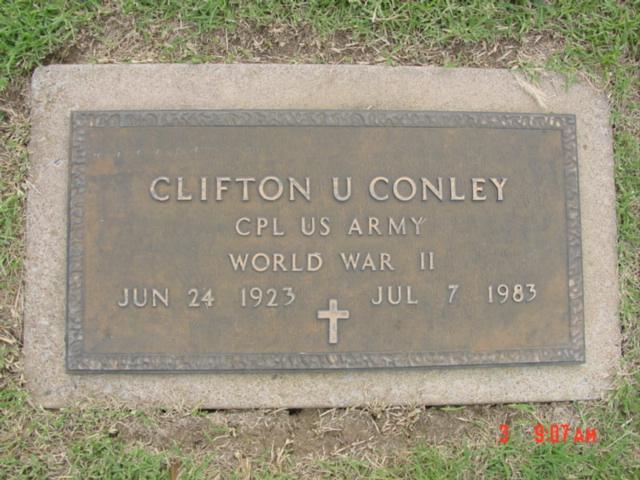 CPL Clifton U Conley (Fairview Cemetery  Owasso,Oklahoma)