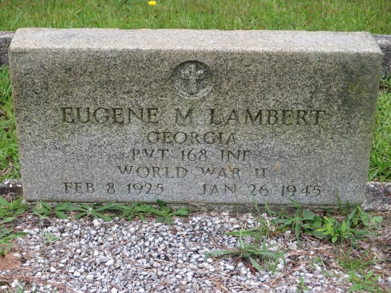 PFC Eugene M. Lambert (Asbury Cemetery Temple,Georgia)