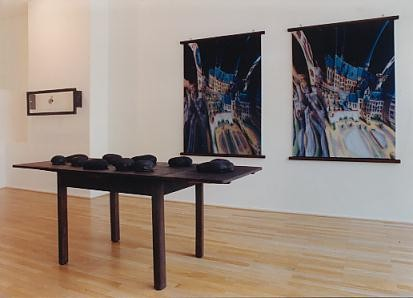 "Left to right: ""Inversion"" (1992), ""Augen"" (1993), ""Tisch"" (1993)"