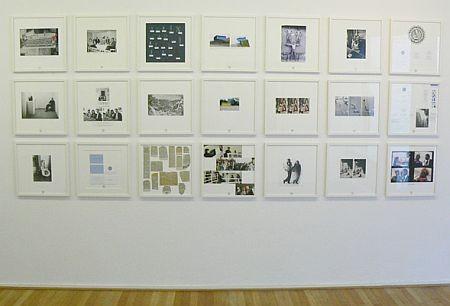 Dokumentation Klaus Peter Schnüttger-Webs Museum, 1986 21 Collagen auf Museumskarton 40 x 40 cm mit Fotografien, Dokumenten, Texten, unterschiedliche Materialien, gerahmt . Klick für Details.