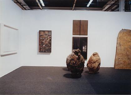 Left to right: L. Fontana, Arman, Thomas Virnich, Daniel Poensgen, Ulrich Rückriem