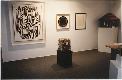 Left to right: Victor Vasarely, Arman, L. Fontana, Nam June Paik