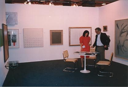 Left to right: G. Uecker, Lucio Fontana, G. Richter