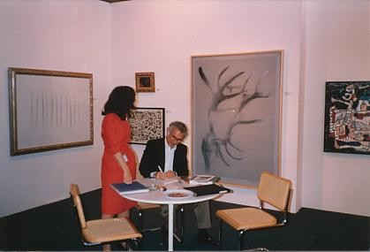 Left to right: L. Fontana, Henri Michaux, G. Richter, Dubuffet