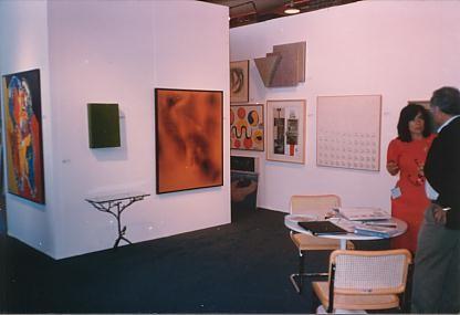 Left to right: Appel, Yves Klein, Diego Giacometti, Alexander Calder, Hans Arp, Tadaaki Kuwayama, Robert Rauschenberg, G. Uecker