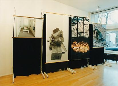 "Left to right: ""Lichtprobe"" (1993), ""Moonlight"" (1992), ""Landschaft"" (1993), ""Bleigüsse"" (1993)"