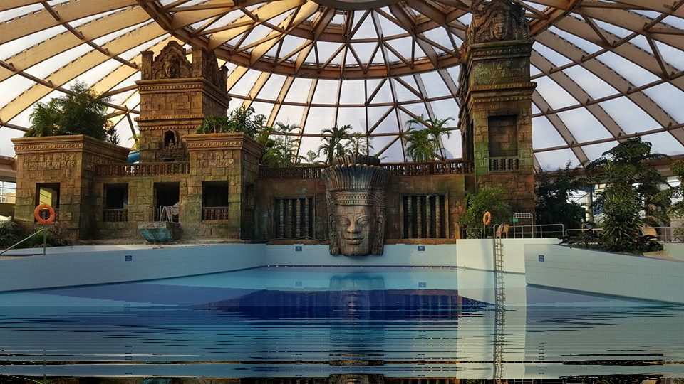 ...in der Auqtherme in Budapest...