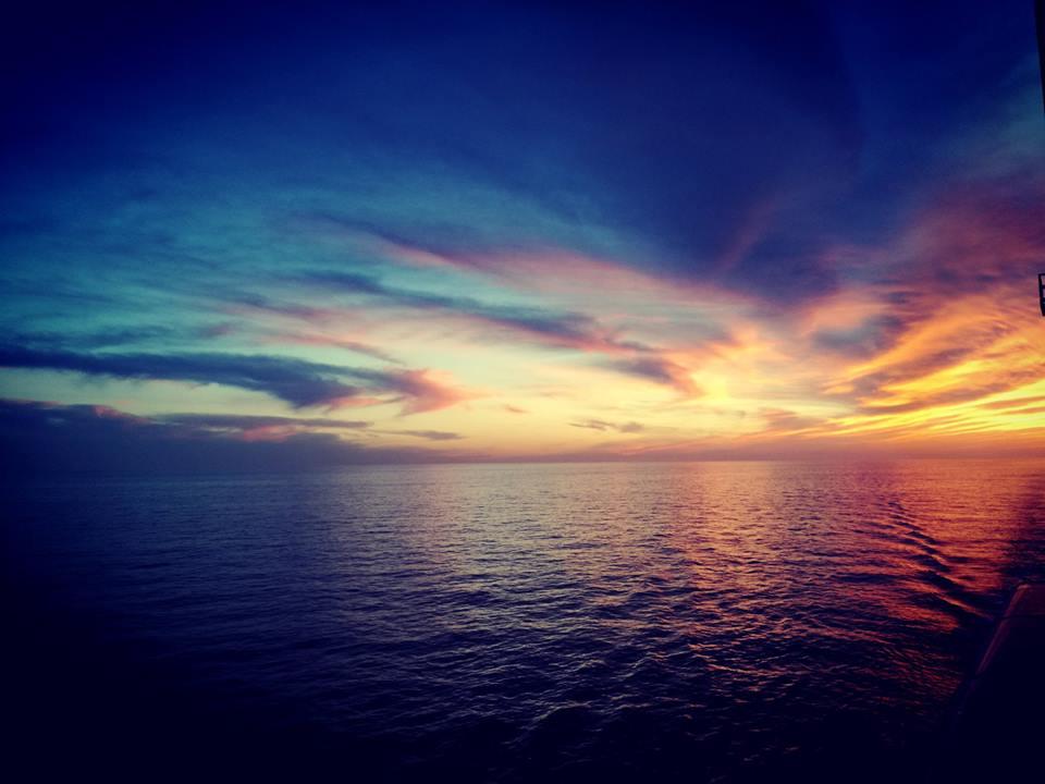 ...Abendstimmung am Schiff...
