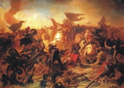 Michael Echter: La battaglia ungherese vicino ad Augusta (Lechfeld, 955)