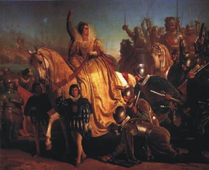 "Ferdinand Piloty: Elisabetta I, Regina d'Inghilterra, ispeziona la sua legione in vista dell' ""armada"" spagnola (1588)"