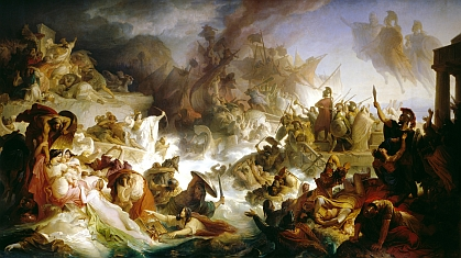 Wilhelm von Kaulbach: Sea battle at Salamis (480 BC)