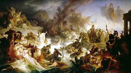 Wilhelm von Kaulbach: La battaglia navale presso Salamina (480 a.C.)