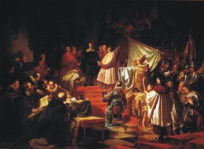 Karl von Piloty: Fondation de la Ligue Catholique sous le commandement du Duc Maximilien de Bavière (1609)