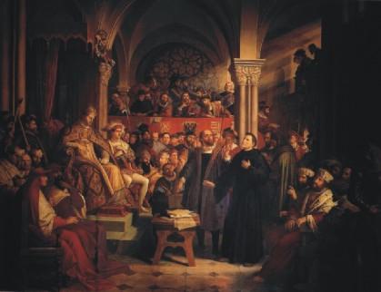 Julius Schnorr von Carolsfeld: Lutero en el Parlamento de Worms (1521)