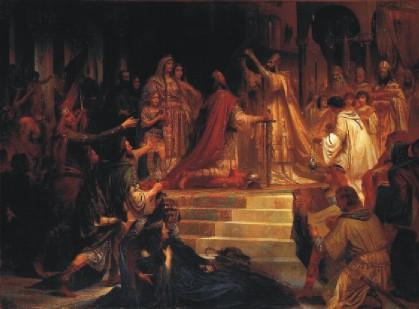 Friedrich Kaulbach: Sacre de Charlemagne (800)