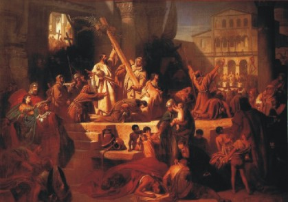 Karl von Piloty: Eroberung Jerusalems durch Gottfried von Bouillon (1099)