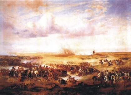 Albrecht Adam: Bataille de Zorndorf entre la Prusse et la Russie (1758)