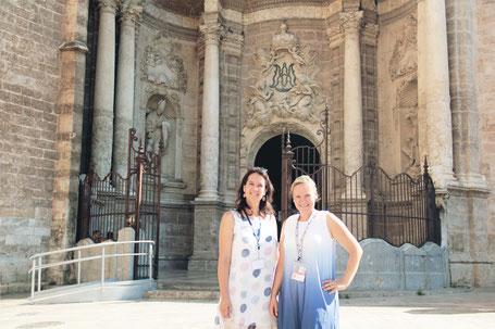 Eline Stephanie Kathedraal Valencia Inside Dach rondleidingen stadsgids stadswandeling