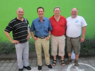 v.l.n.r.: Otmar Steger, Thomas Herbst, Markus Hannweber, Marc Dereser