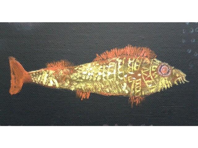 Eine Hommage an Paul Klee! Öl auf Leinwand, ca. 20 x 30cm