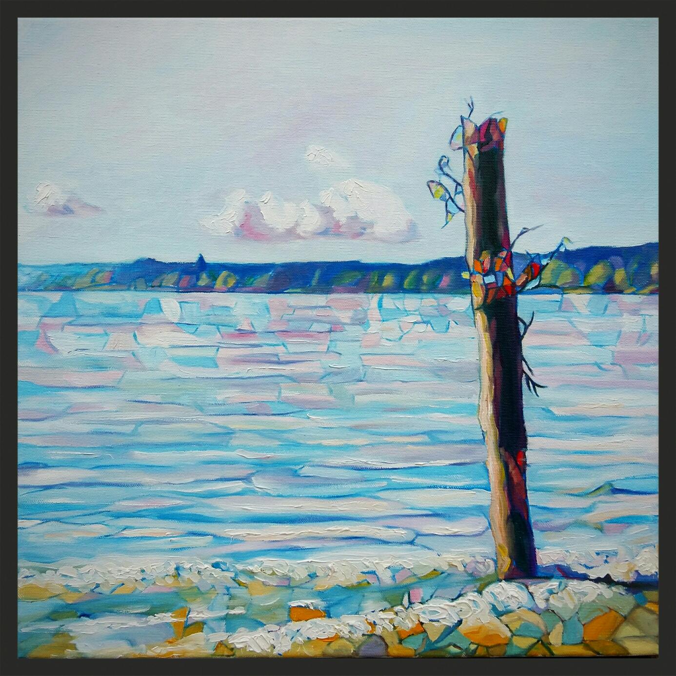 Ammersee-Impression, 40 x 40cm, Öl auf Leinwand