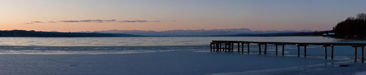 Eis auf dem Ammersee (Eching am Ammersee)