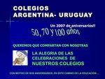Aniversarios Colegios - Argentina