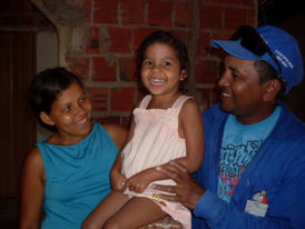 Emilly sa maman et son papa