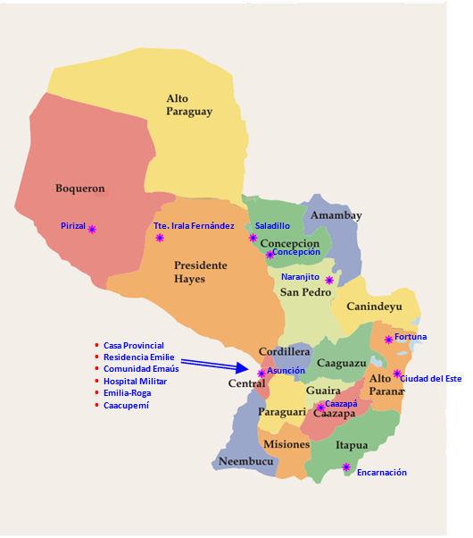 Carte du Paraguay