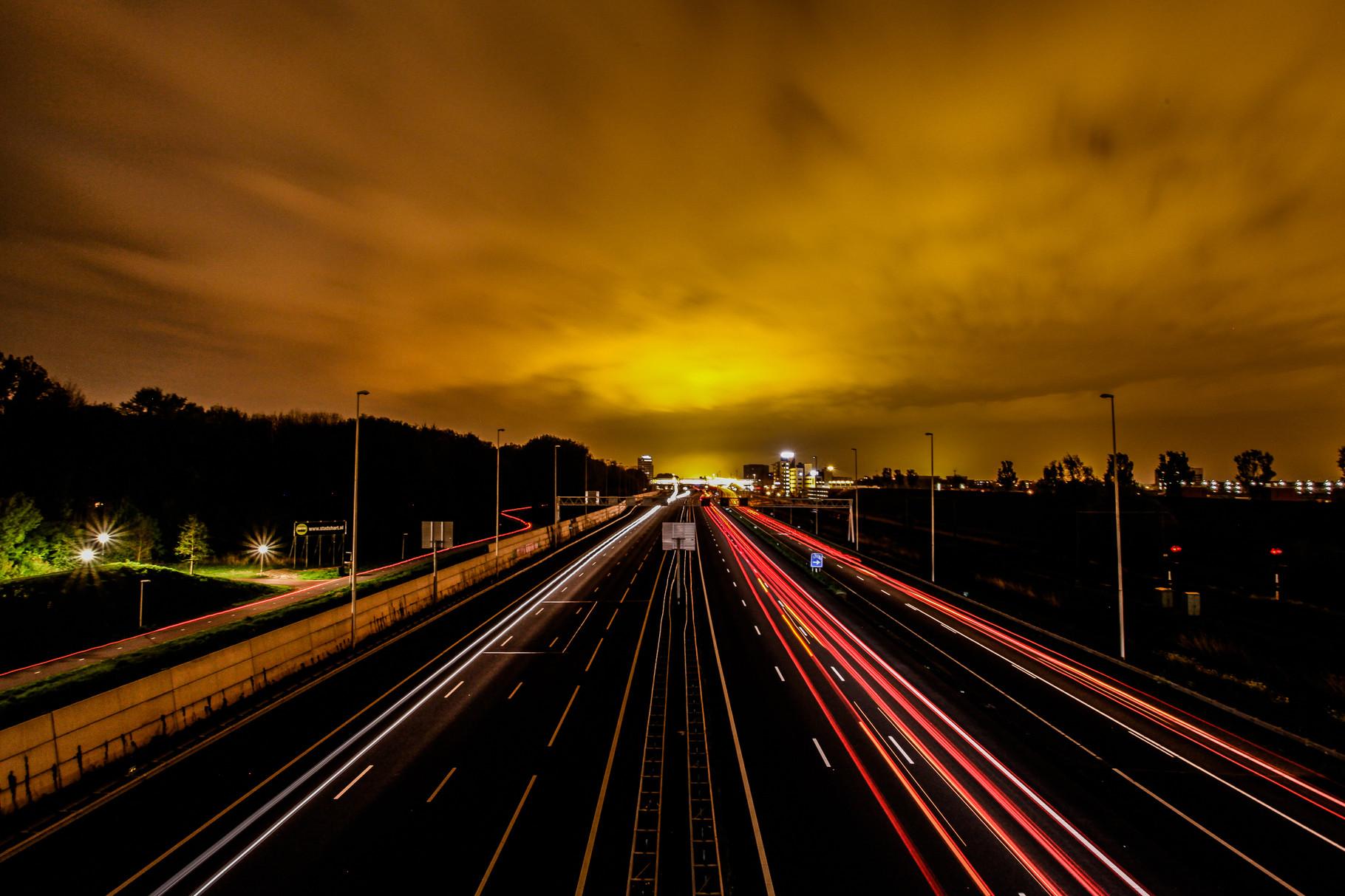 Nachtfoto A12 Zoetermeer - DOKOE Fotografie