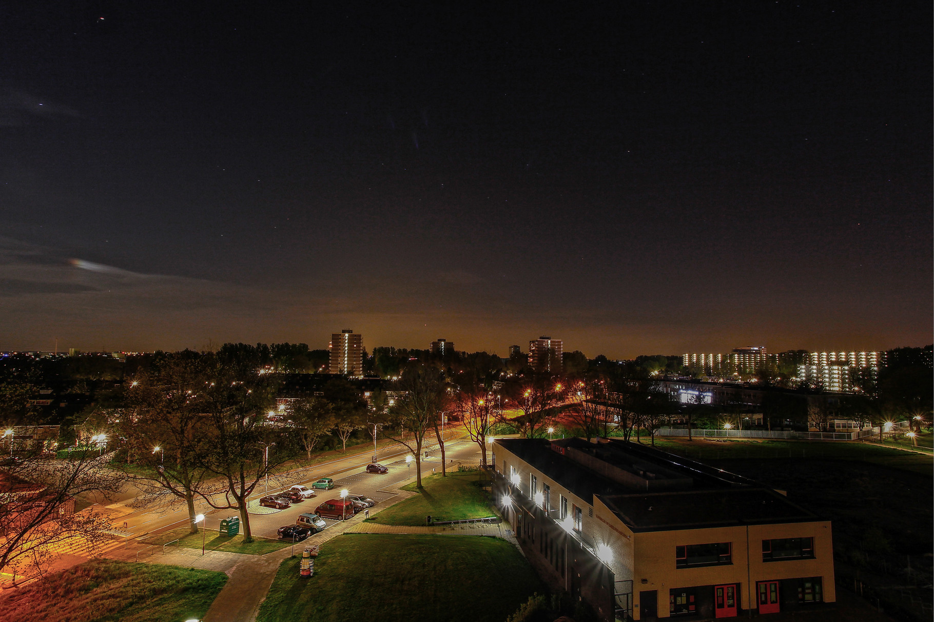 Nachtfoto dak Dunantstraat Zoetermeer - DOKOE Fotografie