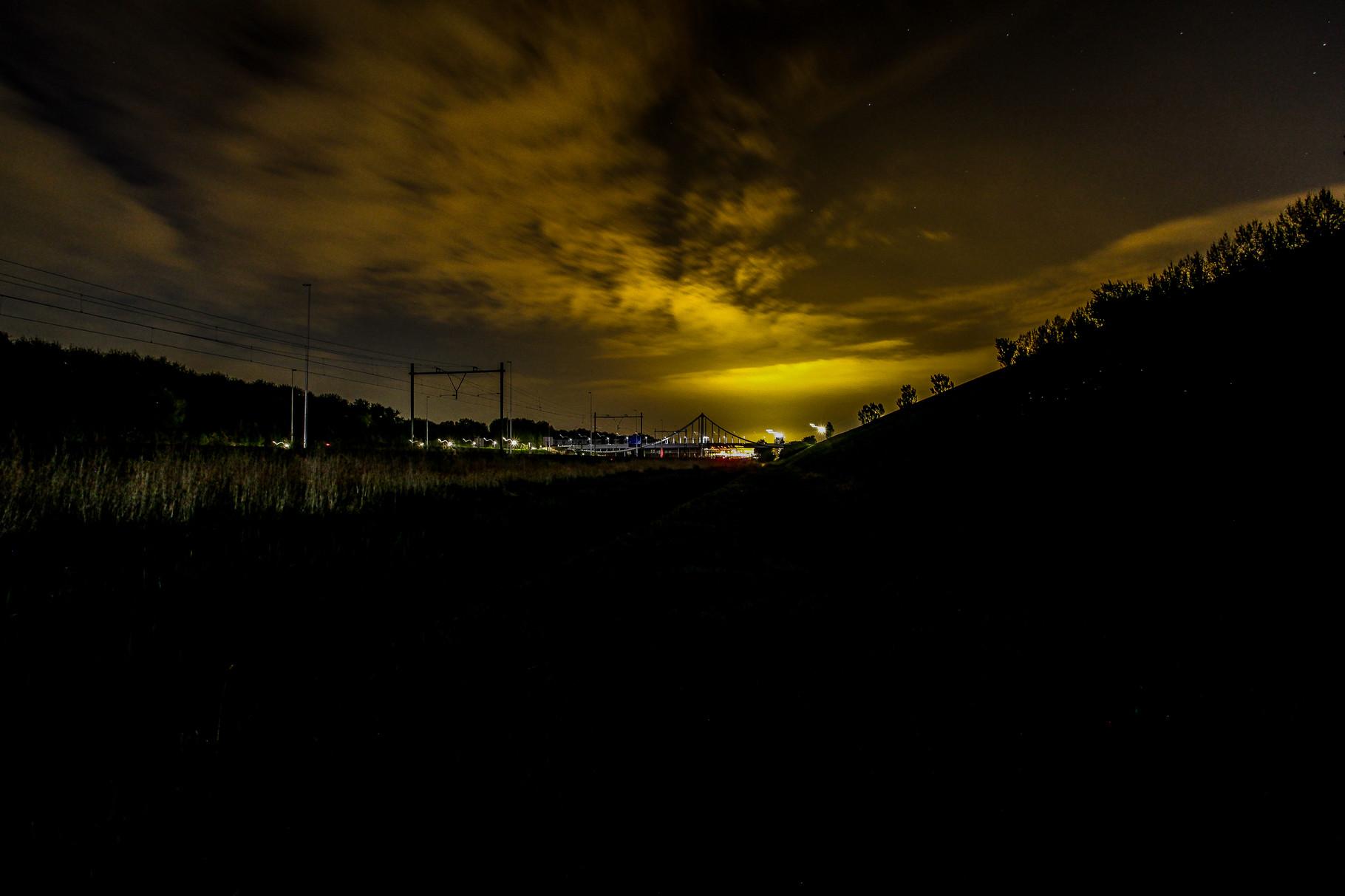 Nachtfoto rand Balijbos Zoetermeer - DOKOE Fotografie